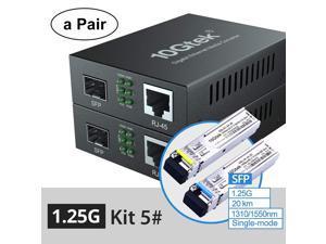 a Pair of 1.25G Bidi Media Converter(kit #5), SFP Slot, with a Pair Bidi SFP Module, SMF, 20-km