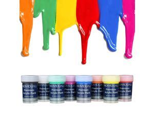 Premium Acrylic Paint Set by individuall – 8 Professional Grade Acrylic Paints – Art Supplies Made in Germany – Craft Acrylic Paint Set with Vivid Colors – Great for Canvas Painting