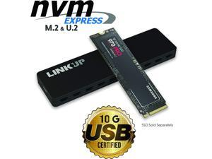 LINKUP - NVMe Enclosure M.2 SSD to USB C 10Gbps Adapter | Aluminum Case USB 3.1 Gen 2 (10 Gbps) to PCIe Gen3 x2 Bridge Chip | for Windows & Mac | Compatible for Samsung 960/970 EVO/PRO WD Black Intel
