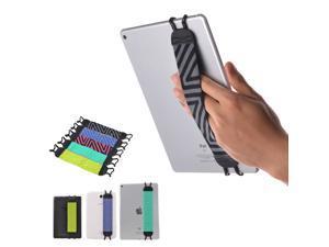 TFY Security Hand-Strap for Tablets, Compatible with iPad & e-Readers - iPad, iPad 4 iPad Air (iPad Air 2), iPad Mini - iPad Pro 9.7 Inch - Samsung Galaxy Tab & Note and More - Black/Gray