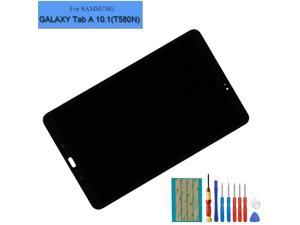 E-YIIVIIL Black LCD Display Assembly Compatible with Samsung Galaxy Tab A 10.1 2016 SM-T580 T585 T587 Touch Screen Digitizer + Tools
