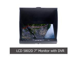 FPV Monitor LCD5802D with DVR 5.8G 40Channels 7Inch LCD Monitor/Display Screen Receiver Monitor for FPV Drone Quadcopter with Wireless Receiver