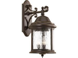 Progress Lighting P5651-20 Traditional Three Light Large Wall Lantern from Ashmore Collection Dark Finish, Antique Bronze
