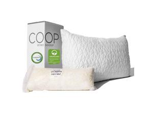 Coop Home Goods - Premium Adjustable Loft Pillow - Hypoallergenic Cross-Cut Memory Foam Fill - Lulltra Washable Cover from Bamboo Derived Rayon - CertiPUR-US/GREENGUARD Gold - Queen