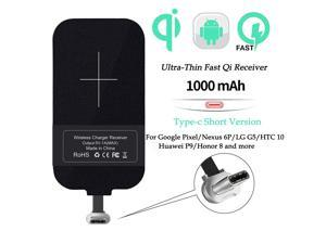 Nillkin Qi Receiver USB C, Thin Wireless Charging Receiver, Type C Wireless Charger Receiver for Galaxy A51/A20E/A20, Pixel 2 and Other Type-C Android Cell Phones(Short Version)