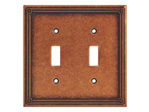 BRAINERD 135765 Ruston Double Toggle Switch Wall Plate / Switch Plate / Cover