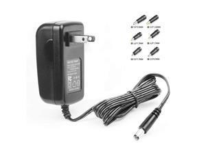 HKY 9V 2.5A Universal Charger, AC to DC, 2.1mmX5.5mm (5.5x2.5/2.5x0.7/3.5x1.35/4.0x1.7/4.8x1.7/5.5x1.7mm) Barrel Plug, AC 100-240V Converter Adapter DC 9V 2.5A(0.5A,1A,1.5A,2A) Power Supply Cord