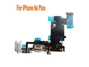 Johncase OEM Charging Port Dock Connector Flex Cable w/Microphone + Headphone Audio Jack Port Ribbon Replacement Part Compatible for iPhone 6s Plus All Carriers (Light Gray)