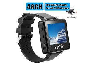 """Flysight FPV Watch 5.8Ghz Wireless RC Video Drone Watch 48 CH HD 2"""" LCD Monitor Screen Watch Real-Time Video Display for Drone Your One More Nice Choice Besides Flysky Topsky Boscam Gteng FPV Watch"""