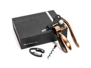 Rose Gold Wine Bottle Opener Set, Includes Gift Box (4 Pieces)
