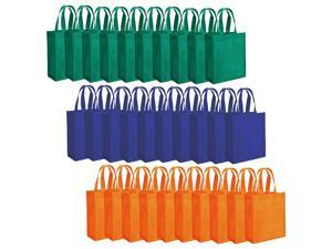 """Tebery 30 Pack Party Bags 8"""" x 10"""" Non-Woven Gift Bag Tote Bags with Handles Party Favor - Assorted 3 Colors"""