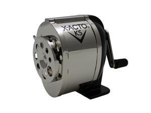 X-ACTO Ranger 1031 Wall Mount Manual Pencil Sharpener,Silver/Black