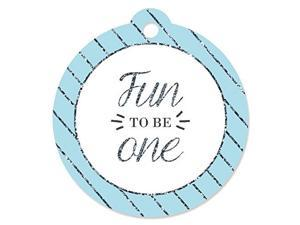1st Birthday Boy - Fun to be One - First Birthday Party Favor Gift Tags (Set of 20)