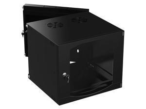 Sabrent 9U IT Wall Mount Rack Enclosure 19 Inch Black Server Cabinet with Locking Glass Door - Fully Assembled (CT-DSWL)
