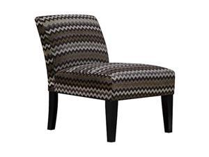 Carver Reaction Chocolate Slipper - Accent - Armless Chair, One, Tonal Brown