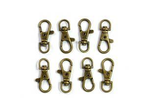 "ALL in ONE Lobster Claw Swivel Clasps Lobster Snap Clasp Hook for Key Ring DIY Craft Jewelry Making 1-1/2""x5/8"" (Antique Bronze-50pcs)"