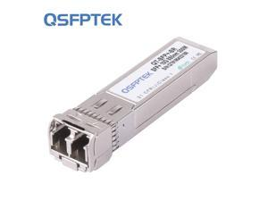 QSFPTEK 10G SFP+ Module LC Multimode 850nm 300M DDM 10GBASE-SR SFP+ Transceiver for Cisco SFP-10G-SR, Ubiquiti UF-MM-10G, Netgear, Mikrotik, D-Link, Supermicro, Linksys, Other Open Switches