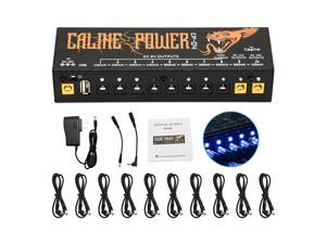 Guitar Pedal Power Supply 10 Isolated DC Output for 9V/12V/18V, 100mA 300mA 500mA Effect Pedal with Short Circuit/Overcurrent Protection CP-04