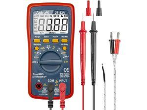AstroAI Digital Multimeter, TRMS 4000 Counts Volt Meter (Manual and Auto Ranging); Measures Voltage Tester, Current, Resistance, Continuity, Frequency; Tests Diodes, Temperature