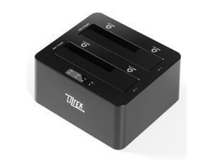 Liztek HDDT2BS Dual Bay USB 3.0 Super Speed to 2.5 and 3.5 inch SATA Hard Disk Drive and Solid-State Drive External Docking Station Duplicator/Cloner 4TB Support