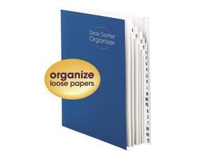 Smead Desk File/Sorter, Alphabetic (A-Z), 20 Dividers, Letter Size, Blue (89282)