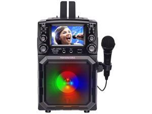 "Karaoke USA Portable Karaoke Machine with 4.3"" Color TFT Screen, Bluetooth, Recording Function, PA and Built-in Battery (GQ450)"