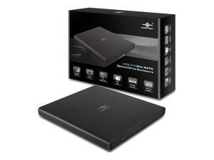 Vantec USB 3.0 Slim SATA Optical Drive Enclosure (NST-510S3-BK), 9.5 mm (Slim)