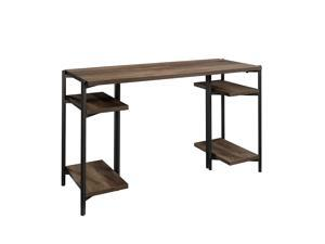 "Sauder North Avenue Desk, L: 49.69"" x W: 18.98"" x H: 28.5"", Smoked Oak Finish"