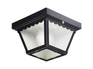 Progress Lighting P5727-31 Traditional One Light Ceiling Mount Collection in Black Finish, 7-1/2-Inch Diameter x 5-Inch Height