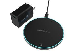 Sabrent 10W Qi Wireless Fast Charger Charging Pad, with Quick Charge 3.0 USB Wall Charger Universally Compatible with All Qi Enabled Phones (WL-QIFC-QCP1)
