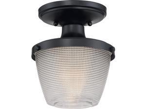 Quoizel DBN1707K Dublin Semi Flush, 1-Light 100 Watts, Mystic Black