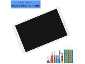 E-YIIVIIL LCD Display Assembly Compatible with Galaxy Tab A 10.1 2016 SM-T580 T585 T587 Touch Screen Digitizer(White) + Tools