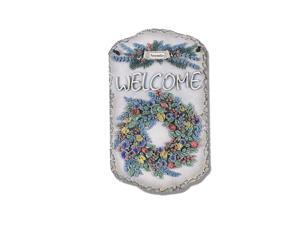 "Welcome Wreath"" by Trendy Decor 4U Resin Sculpted Indoor/ Outdoor Plaques"