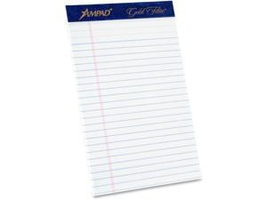 Ampad Gold Fibre Premium Jr. Legal Writing Pad - 50 Sheet - 16 Lb - Ruled -
