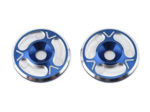 Avid RC Triad HD Wing Mount Buttons (2) (Blue/Silver) [AVD10012-BLU]