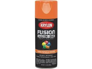 Krylon Fusion All-In-One Gloss Spray Paint & Primer, Popsicle Orange 3 pk