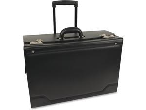 "Stebco Carrying Case [roller] For 18.4"" Notebook - Black - Leather (341626BLK)"