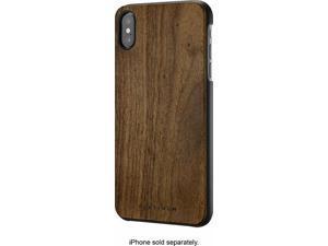 "Platinum - Natural / Real Wood slim Case for iPhone XS MAX 6.5"" Walnut Wood"