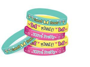 Minnie Mouse Wristbands 6ct - New