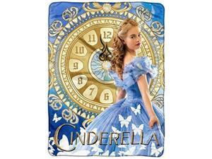 Disney Cinderella 2015 Clock Strikes Super Plush Throw 46x60-in