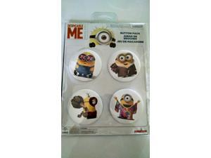 Despicable Me Minion Made Button Pack 4 Cnt