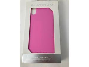 "Platinum Premium Silicone cover Case for Apple iPhone XR 6.1"" HOT PINK"