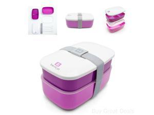 Bentgo All-in-One Stackable Lunch/Bento Box Purple