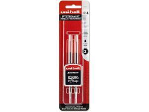 35972 Uni-Ball Jetstream RT Pen Ink Refill, Bold 1.0mm, Black, 3 Packs of 2 Each