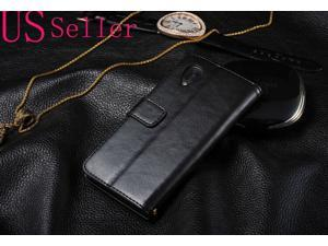 Black Luxury Flip Leather Case Wallet Pouch Cover For Nexus 5 LG / Google New
