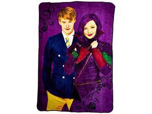 "Disney Descendants Mal Plus Soft Purple Throw Bed Blanket Bedding 62"" x 90"" New"