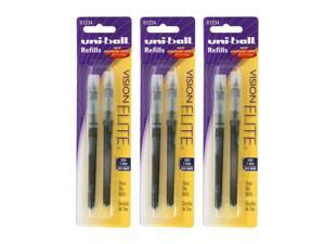 Uni-Ball Vision Elite Rollerball Pen Refills, 0.8 mm, Bold Point, Blue-Black ...