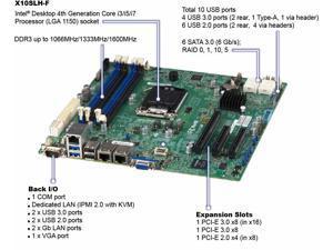 Supermicro X10SLH-F Motherboard Micro-ATX Socket H3 (LGA 1150) FULL