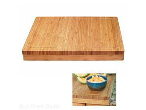 Lipper Butcher Block Bamboo Cutting Boards 8830 Over The Edge of Counter Cutter