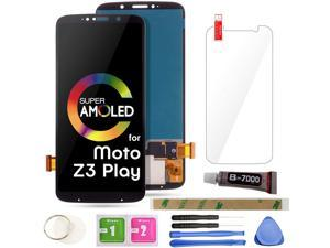 """Z3 Play LCD Screen Replacement Touch Display Digitizer Assembly 6.01"""" (Black) for Motorola Moto Z3 Play XT1929-1 XT1929-3 XT1929-4 XT1929-5 XT1929-6 XT1929-6M XT1929-8 XT1929-15 XT1929-17"""